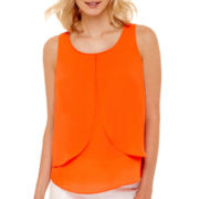 Bisou Bisou® Sleeveless Tiered Drape Top