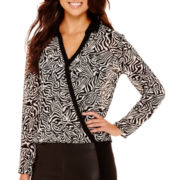 nicole by Nicole Miller® Long-Sleeve Printed Surplus Top