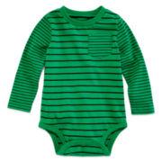 Okie Dokie® Striped Bodysuit - Baby Boy newborn-24m