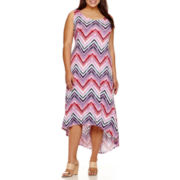 a.n.a® Sleeveless High-Low Maxi Dress - Plus