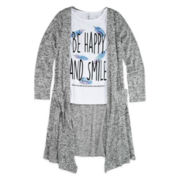Knit Works® Cardigan and Tank Top - Girls 7-16