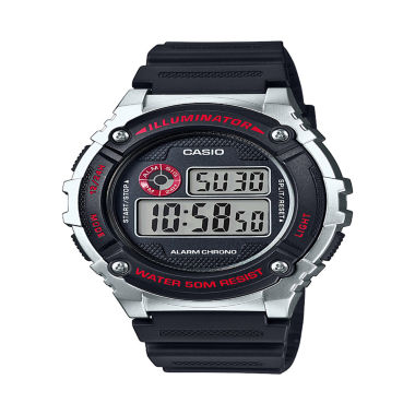 jcpenney.com | Casio Table Mens Black Strap Watch-W216h-1cvpb
