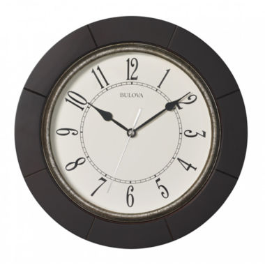 jcpenney.com | Bulova White Wall Clock-C4256