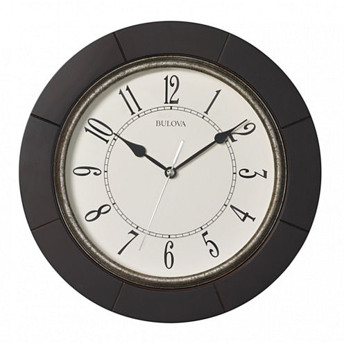 Bulova White Wall Clock-C4256
