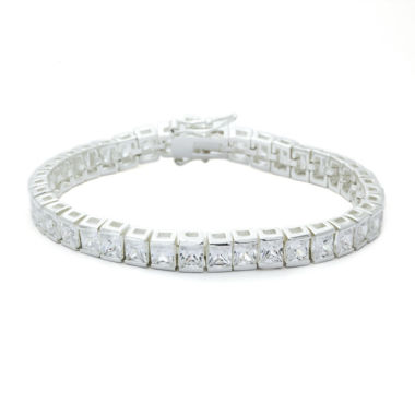 jcpenney.com | Sparkle Allure Clear Cubic Zirconia Square Stone Silver Adjustable