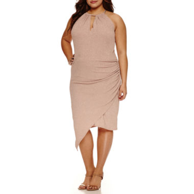 jcpenney.com | Bisou Bisou Sleeveless Asymmetrical Sheath Dress-Plus
