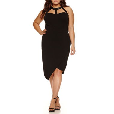 jcpenney.com | Bisou Bisou Sleeveless Embellished Asymmetrical Sheath Dress-Plus