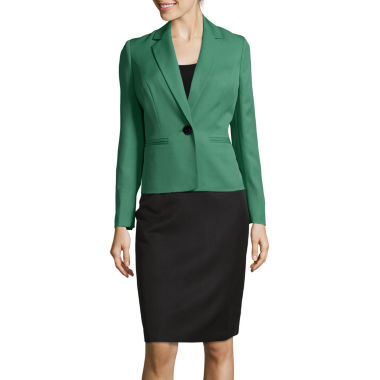 jcpenney.com | Le Suit® Long Sleeve 1-Button Skirt Suit