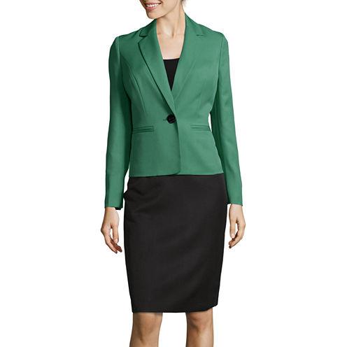 Le Suit® Long Sleeve 1-Button Skirt Suit