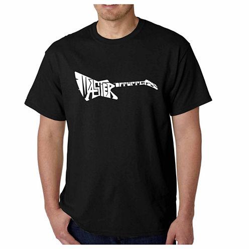 Los Angeles Pop Art Short Sleeve Pop Culture Graphic T-Shirt