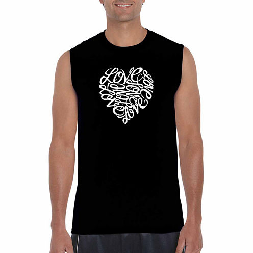 Los Angeles Pop Art Sleeveless Graphic T-Shirt