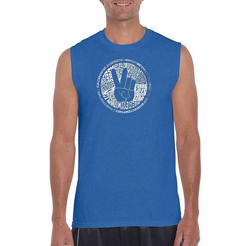 Los Angeles Pop Art Sleeveless Graphic T-Shirt