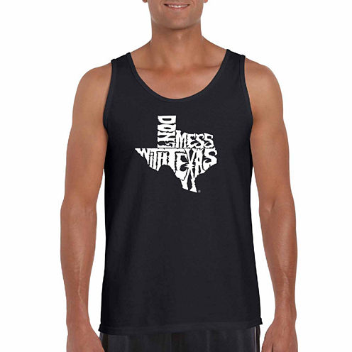 Los Angeles Pop Dont Mess With Texas Art Tank Top