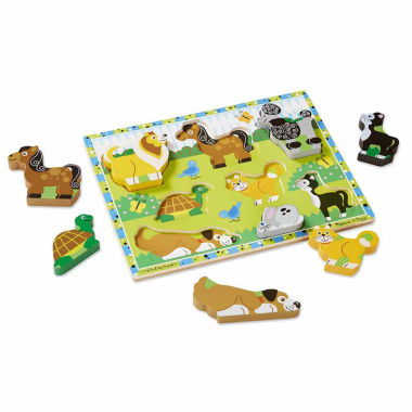 jcpenney.com | Melissa & Doug® Chunky Wooden Pets Puzzle