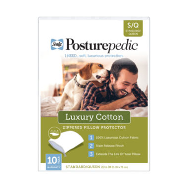 jcpenney.com | Sealy Posturepedic Luxury Cotton with Stain Protection Pillow Protector
