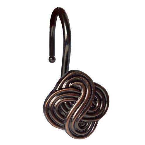 Elegant Gaelic Knot Shower Curtain Hooks