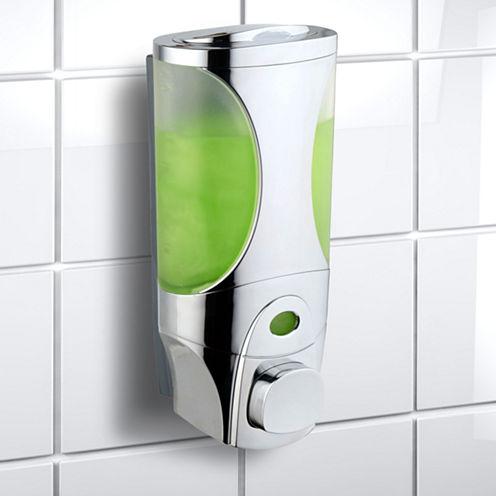 HotelSpa® Curves Luxury Soap/Shampoo/Lotion Modular-Design Shower Dispenser System Pack of 1