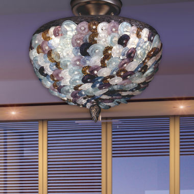 jcpenney.com | Dale Tiffany™ Multi-Color Luxor Flush Mount