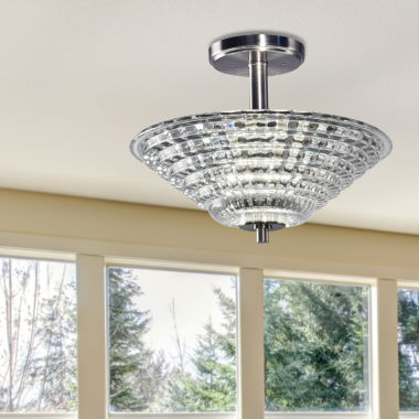 jcpenney.com | Dale Tiffany™ LED Wendy Semi Flush Mount
