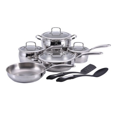 jcpenney.com | Hamilton Beach 12-pc. Stainless Steel Non-Stick Cookware Set