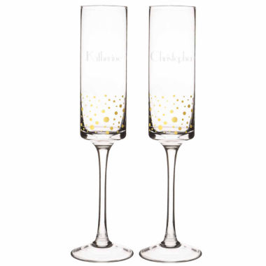 jcpenney.com | Cathy's Concepts Gold Dot 2-pc. Champagne Flutes