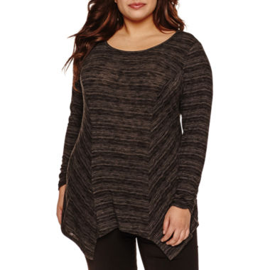 jcpenney.com | Alyx Long Sleeve Sharkbite Stripe T-Shirt-Plus