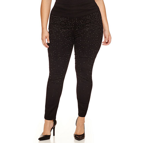 Bisou Bisou Knit Pull-On Pants-Plus
