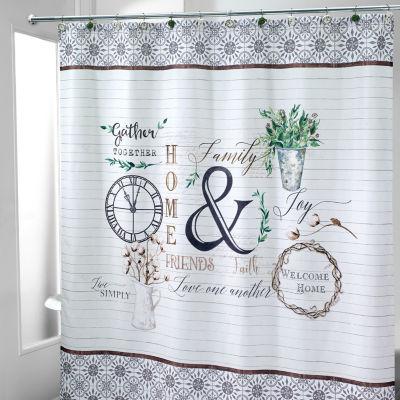 Avanti Modern Farmhouse Shower Curtain, Avanti Shower Curtain