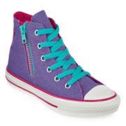 Converse Chuck Taylor All Star Girls Side Zip High-Top Sneakers - Little Kids