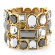 nicole by Nicole Miller® Gold-Tone Crystal Stretch Bracelet