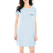 Liz Claiborne® Short Sleeve Nightshirt