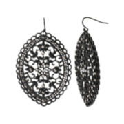 Mixit™ Lace Oval Drop Earrings