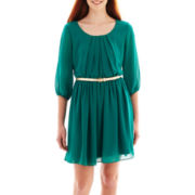 by&by 3/4-Sleeve Belted Dress