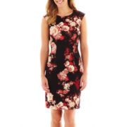 R&K Originals® Sleeveless Floral Sheath Dress