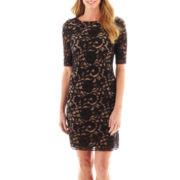 R&K Originals® Elbow-Sleeve Lace Dress