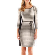 Studio 1® 3/4-Sleeve Spaghetti Belt Dress