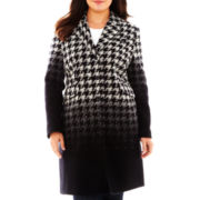 Liz Claiborne® Wool-Blend Chesterfield Coat - Plus