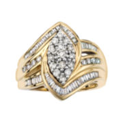 1 CT. T.W. Diamond 10K Yellow Gold Marquise-Style Ring