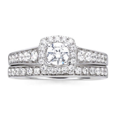jcpenney.com | I Said Yes™ 1 CT. T.W. Diamond & Lab-Created Blue Sapphire Bridal Ring Set