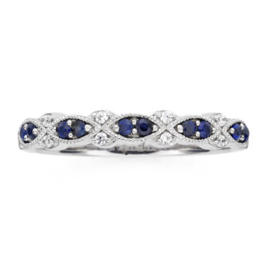 jcpenney.com | I Said Yes™  Genuine & Lab-Created Blue Sapphire Vintage-Style Band