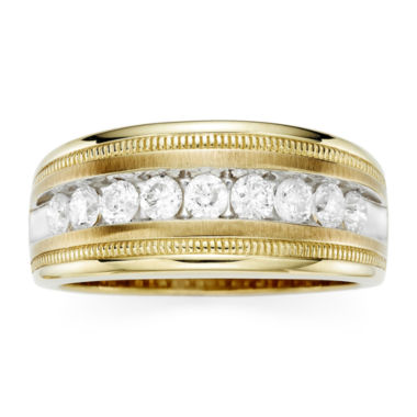 jcpenney.com | Mens 1 CT. T.W. Diamond 10K Yellow Gold Milgrain Ring