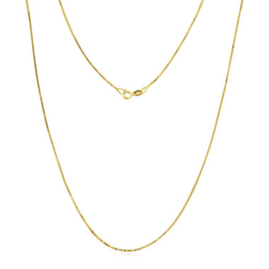 jcpenney.com | 14K Gold .75mm Box Chain Necklace