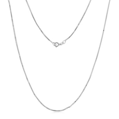 "jcpenney.com | Made in Italy 14K White Gold .75mm 16-24"" Box Chain"