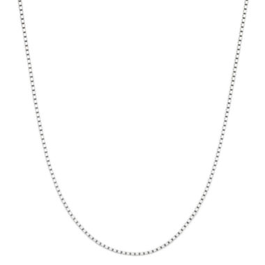 "jcpenney.com | 14K White Gold 18"" Box Chain Necklace"