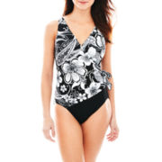Robby Len by Longitude® Marrakesh Side-Wrap 1-Piece Swimsuit