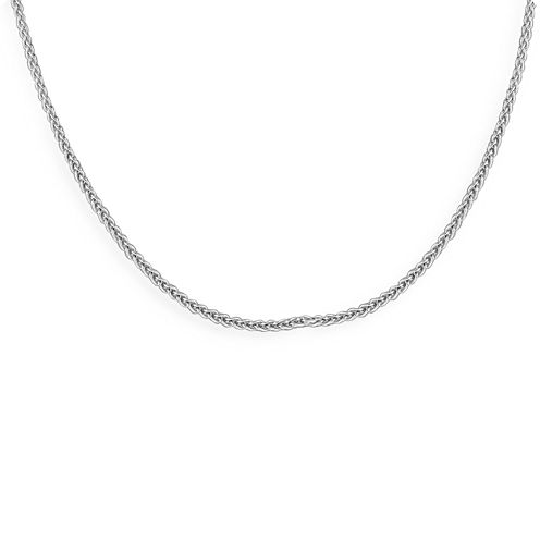 """Made in Italy Sterling Silver 18"""" Wheat Chain"""
