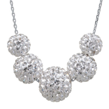 jcpenney.com | Crystal-Accent Sterling Silver Fireball Bead Necklace