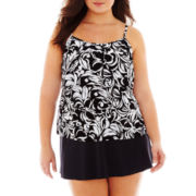 Jamaica Bay® Tiered Tankini Swim Top or Skirted Bottoms - Plus