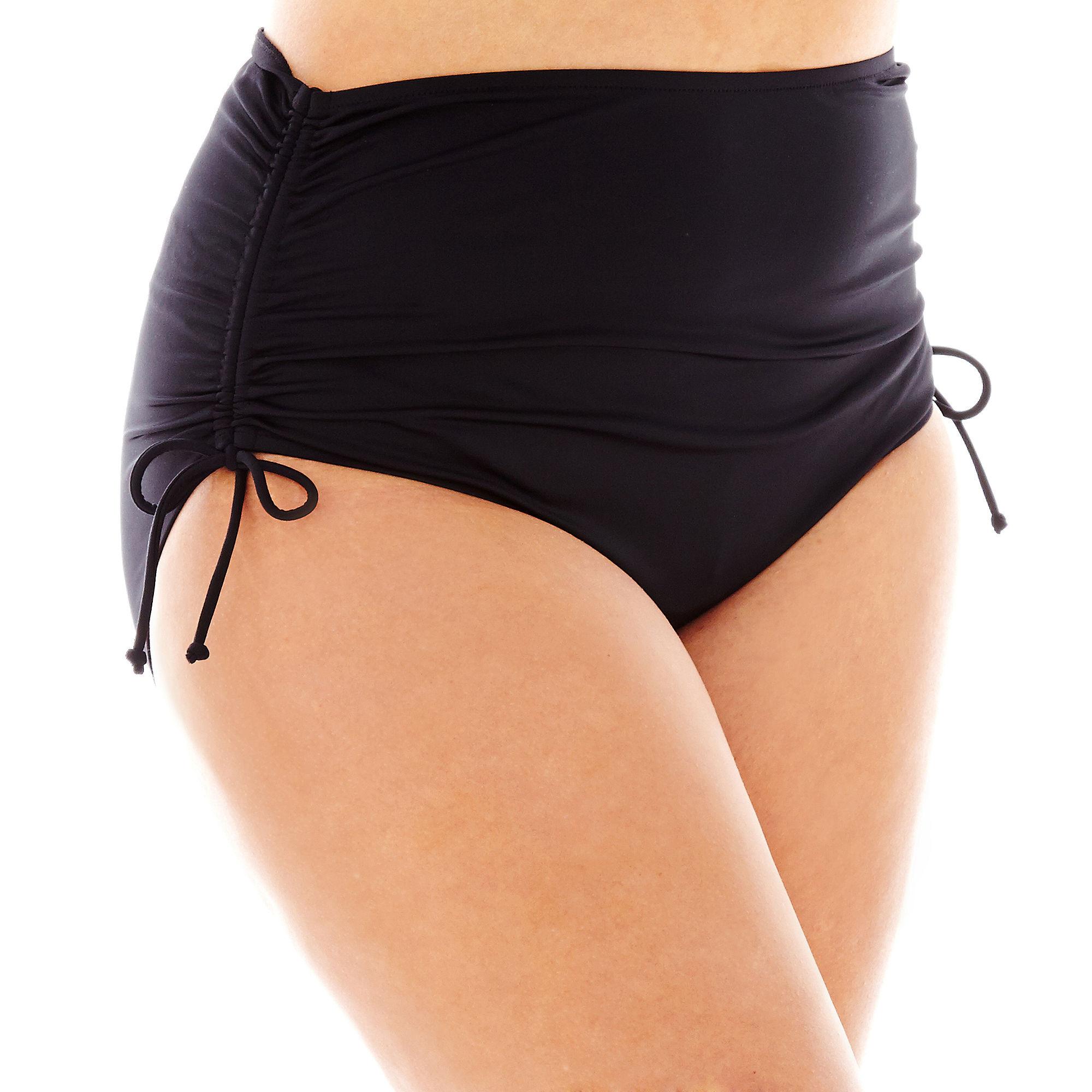 Jamaica Bay Adjustable Brief Swim Bottoms - Plus plus size,  plus size fashion plus size appare