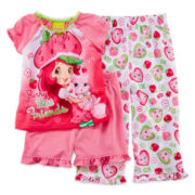 Strawberry Shortcake 3-pc. Pajama Set - Girls 2t-4t